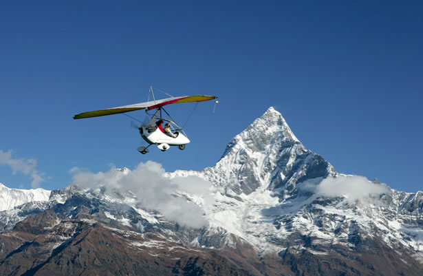 Ultralight Flights in Pokhara, Himalayas